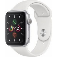 Apple Watch Series 5 44mm Silver Aluminum White Sport Band (GPS)