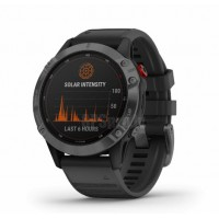 GARMIN FENIX 6 PRO SOLAR SLATE GRAY WITH BLACK BAND SPORTA PULKSTENIS